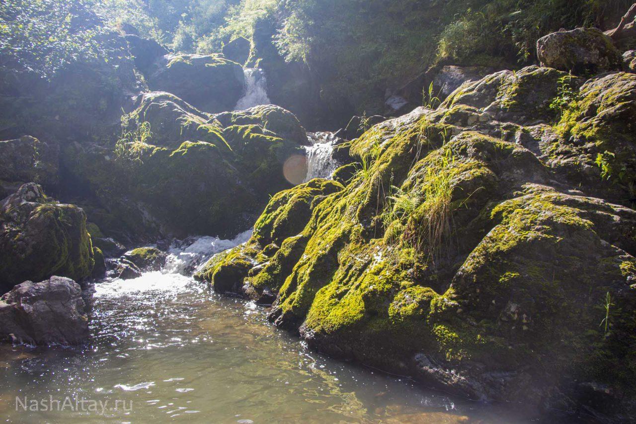 каскад водопадов на третей речке